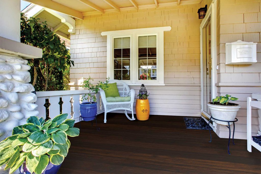 Fused Bamboo Porch Flooring